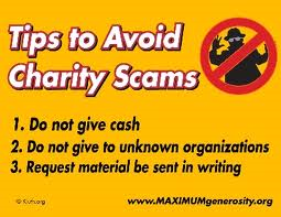 Tips to Avoid Charity Scams