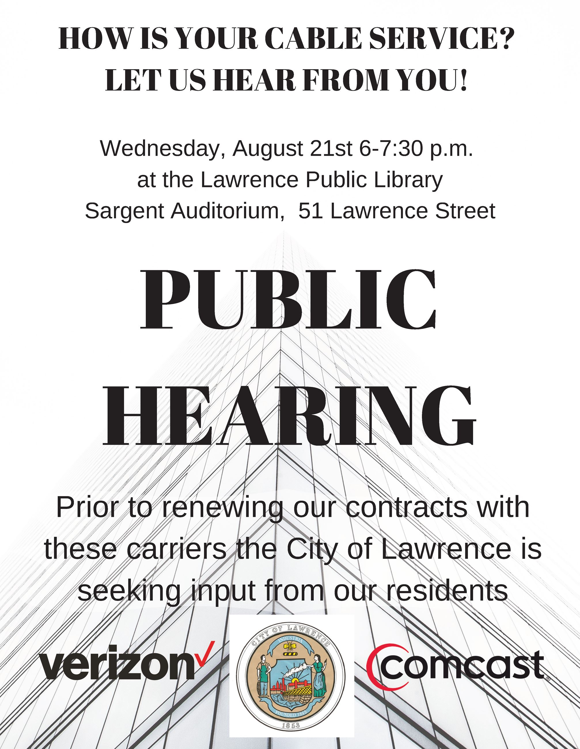 PUBLIC MEETING August 21st-2019
