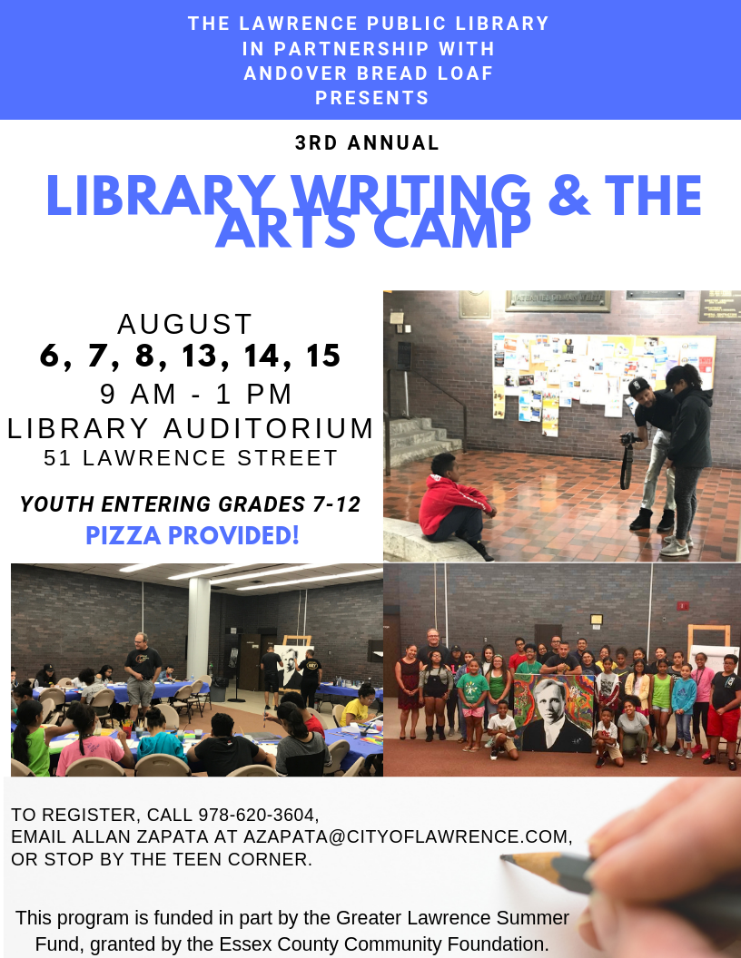 Library Writing and the Arts Campp