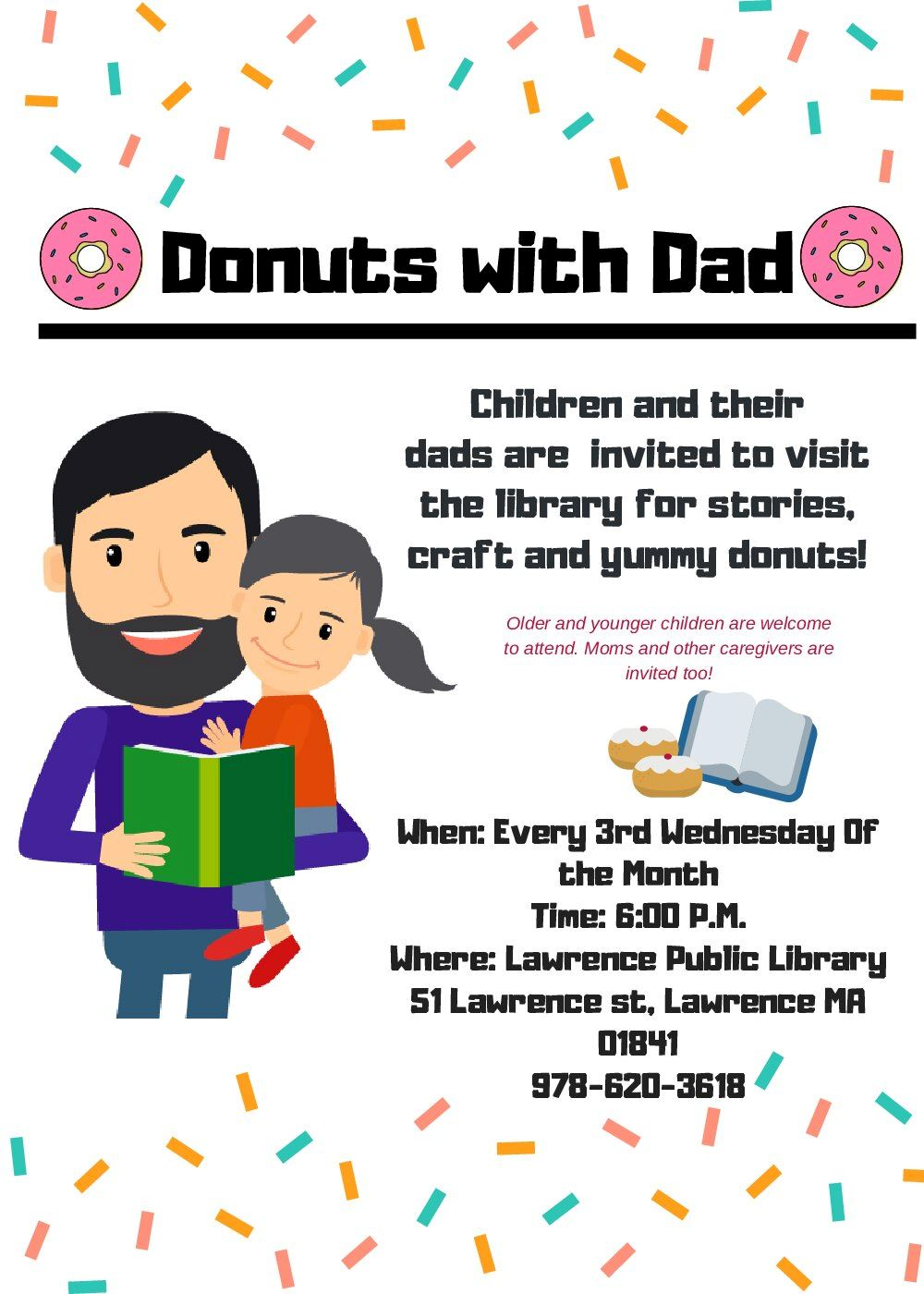 Donuts with Dad standard flyer