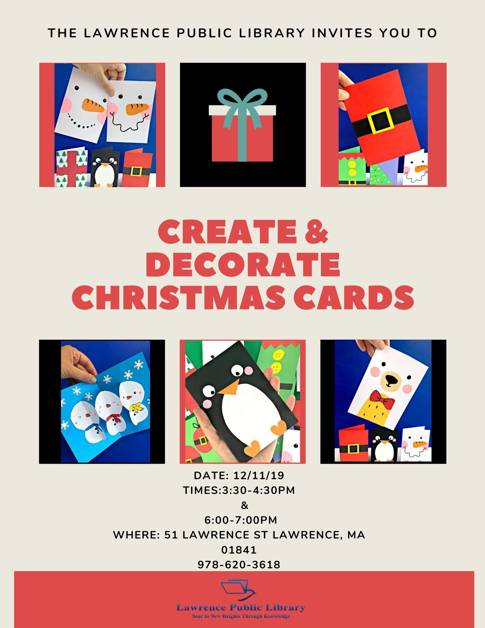 Decorate Christmas cards
