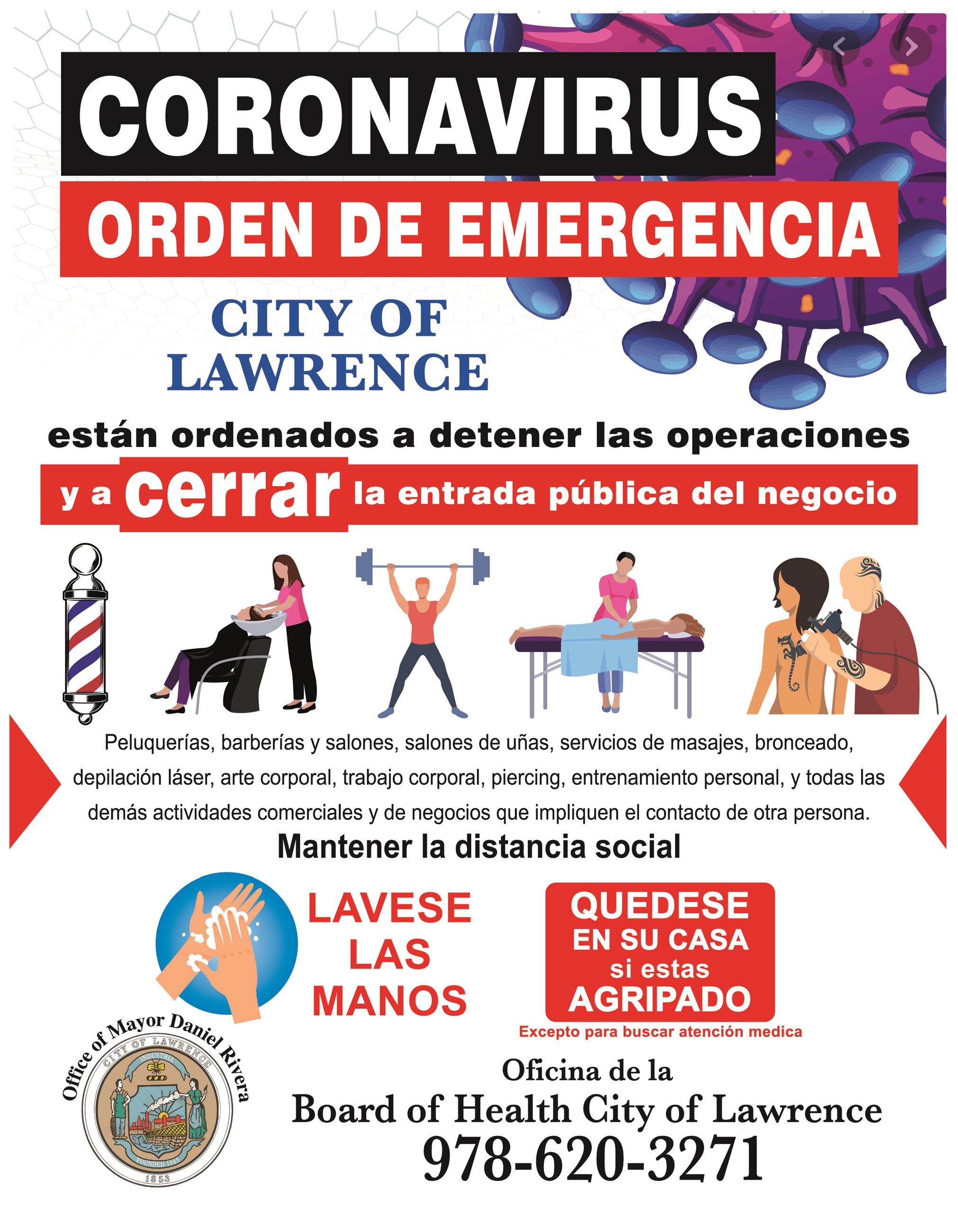 CITY OF LAWRENCE - CORONAVIRUS SPH-BOARD OF HEALTH