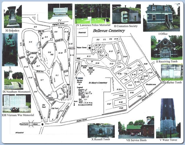 Bellevue Cemetery Map