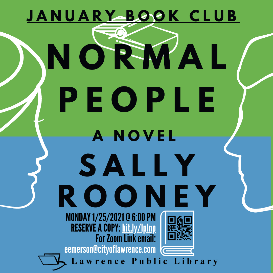 "Photo of January Book Club Flyer: ""Normal People"" by Sally Rooney"