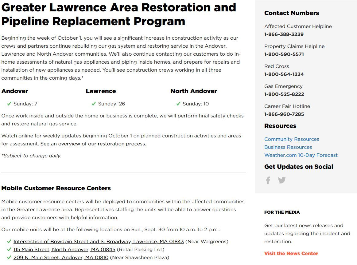 Lawrence Gas Emergency | Lawrence, MA